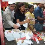 Arogya World distributes educational materials at in Dilli Haat, in Delhi