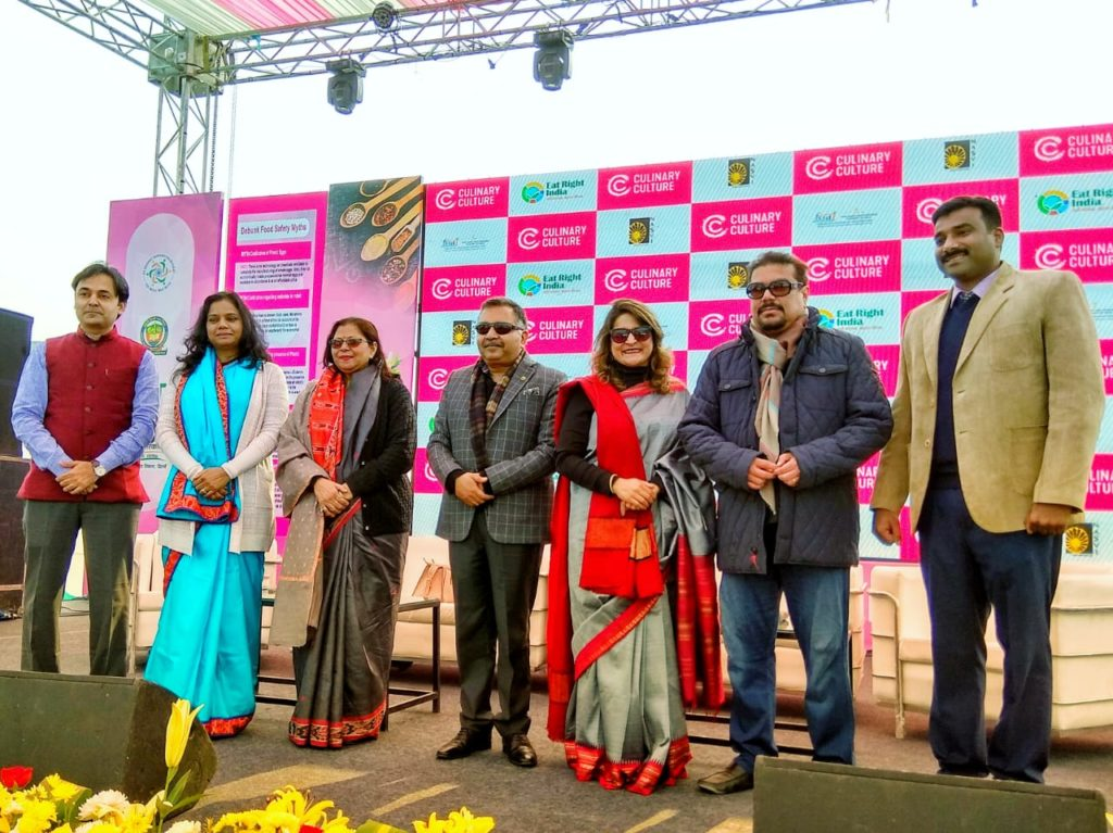 Panelists gather on stage at the FSSAI Eat Right Mela